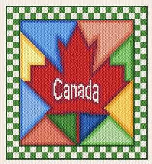 cross stitch pattern Canada Quilt