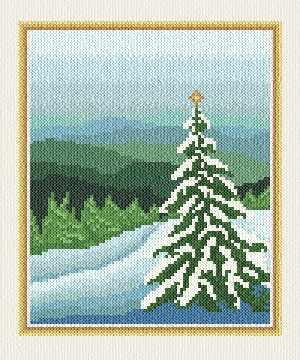 cross stitch pattern Christmas Card