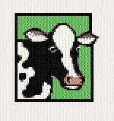 cross stitch pattern Cow
