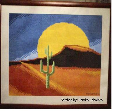 cross stitch pattern Desert Sun