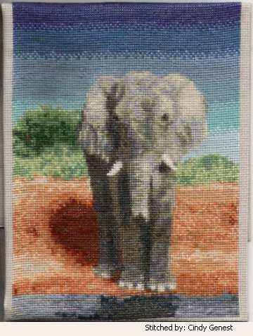 cross stitch pattern Elephant