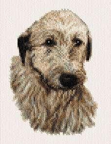 cross stitch pattern Irish Wolfhound