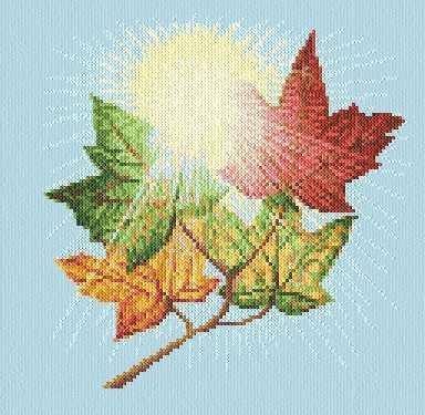 cross stitch pattern Maple Sky