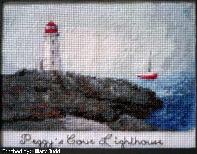 cross stitch pattern Peggy`s Cove