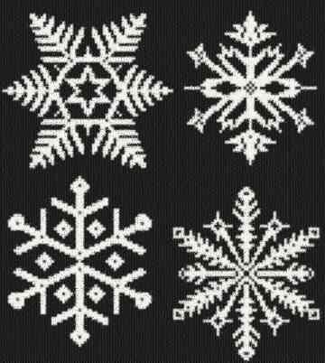 cross stitch pattern Snowflakes 2