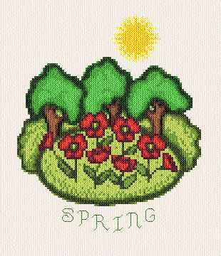 cross stitch pattern Spring