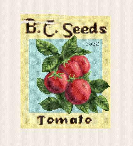cross stitch pattern Tomato