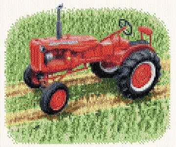 cross stitch pattern Tractor