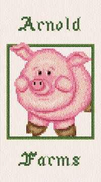 cross stitch pattern Arnold Farms