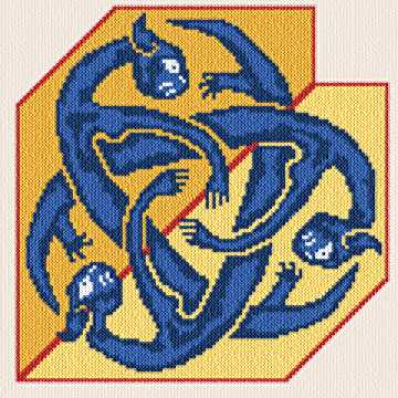 cross stitch pattern Celtic Catz
