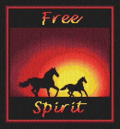 cross stitch pattern Free Spirit