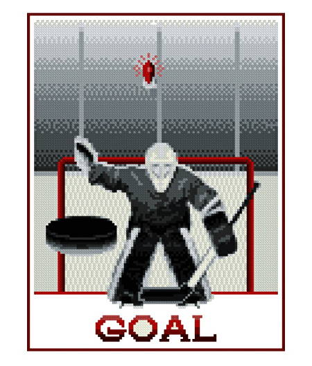 cross stitch pattern Hockey Goal