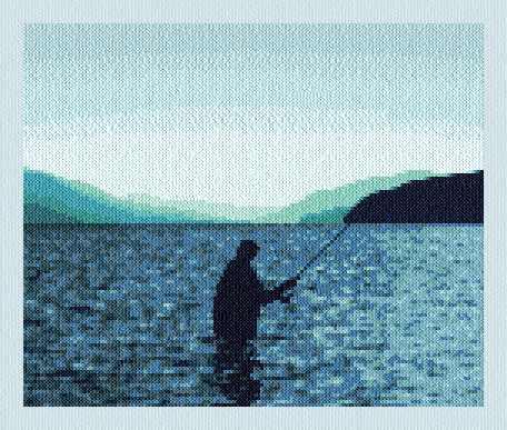cross stitch pattern Kootenay Lake