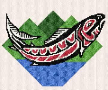 cross stitch pattern Native Chinook