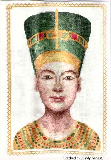 cross stitch pattern Nefertiti