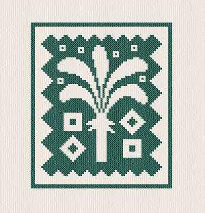 cross stitch pattern Palm Stamp