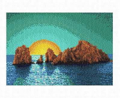 cross stitch pattern Pacific Sunset