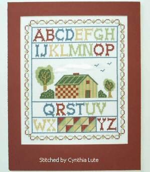 cross stitch pattern Country Sampler