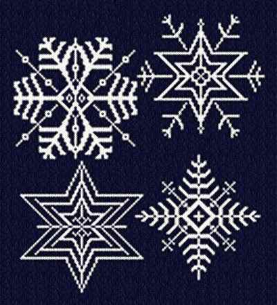cross stitch pattern Snowflakes 3