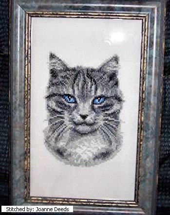 cross stitch pattern Tiger (grey tabby)