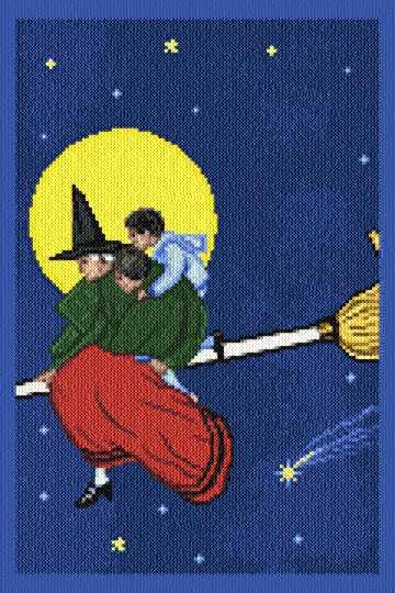 cross stitch pattern Broom Ride