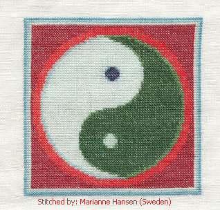 cross stitch pattern Yin-Yang