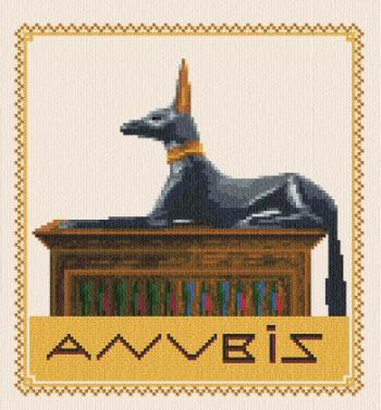 cross stitch pattern Anubis