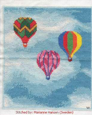 cross stitch pattern Hot Air Balloons