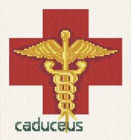 cross stitch pattern Medical Caudeus