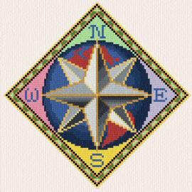 cross stitch pattern Compass