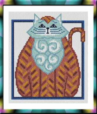 cross stitch pattern More Cat Art