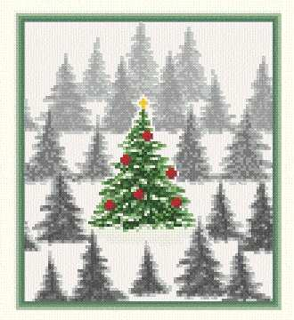 cross stitch pattern Christmas Tree Farm
