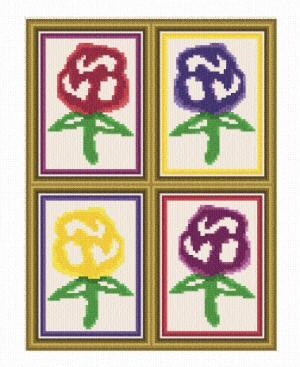 cross stitch pattern Flower Prints