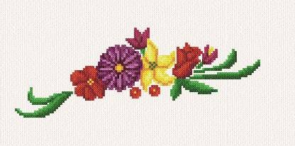 cross stitch pattern Gayle's Flowers