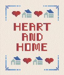 cross stitch pattern Heart and Home