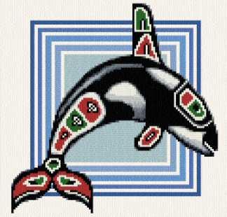 cross stitch pattern Native Orca