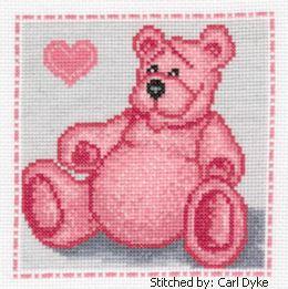 cross stitch pattern Pink Bear