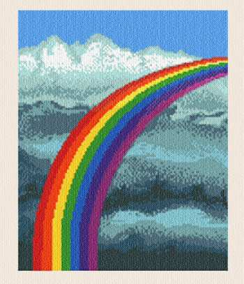 cross stitch pattern Rainbow