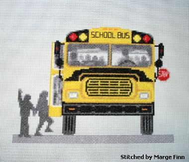 cross stitch pattern School Bus