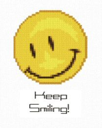 cross stitch pattern Smiley