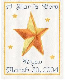 cross stitch pattern Birth Announcement