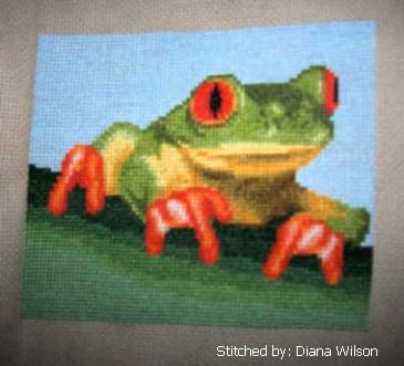 cross stitch pattern Tree Frog