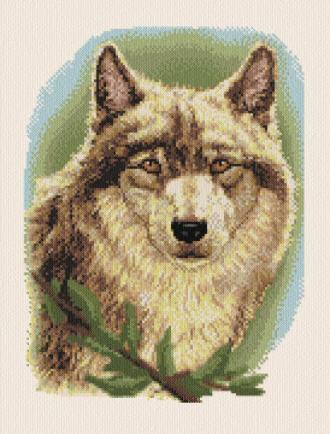 cross stitch pattern Timber Wolf