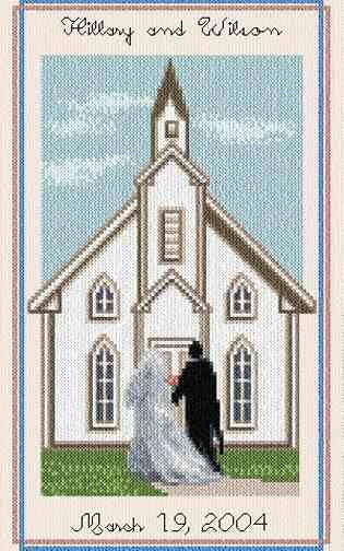cross stitch pattern Wedding Chapel