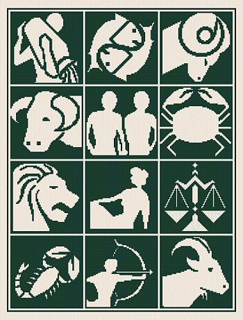 cross stitch pattern Zodiac Silhouettes
