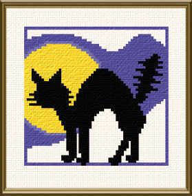 cross stitch pattern Black Cat