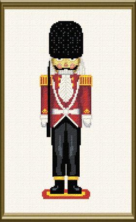 cross stitch pattern Boris (nutcracker)