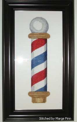 cross stitch pattern Barber Pole