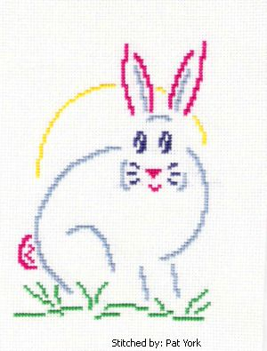 cross stitch pattern Pastel Bunny