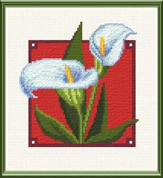cross stitch pattern Calla Lilies